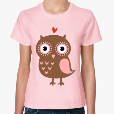 Женская футболка «Филин&Сова»