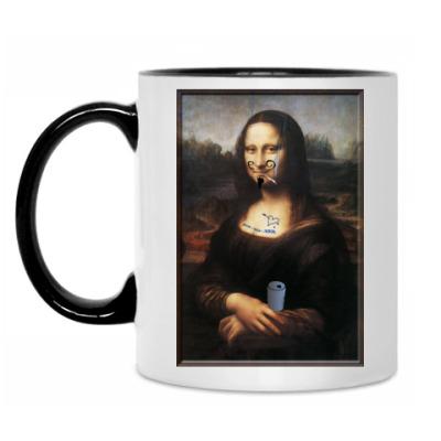 Кружка Испорченная Мона Лиза