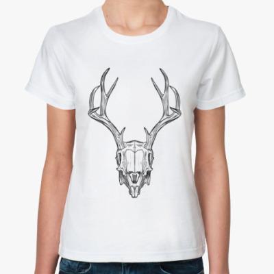 Классическая футболка Череп оленя