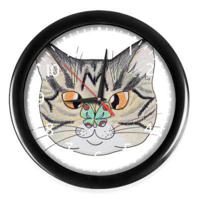 Часы Мордочка полосатого кота