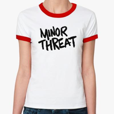 Женская футболка Ringer-T  Minor Threat