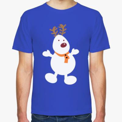 Футболка Олень - снеговик