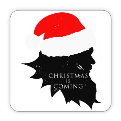 Костер (подставка под кружку) Christmas is coming