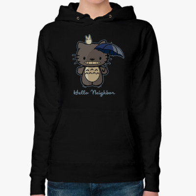 Женская толстовка худи Hello Totoro