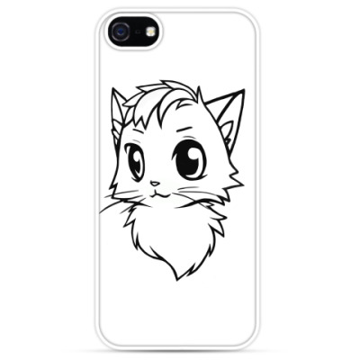 Чехол для iPhone Белый кот new