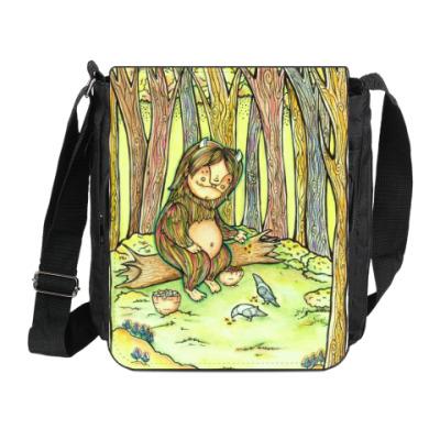 Сумка на плечо (мини-планшет) Лесной тролль