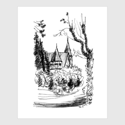 Постер Дом и Дерево