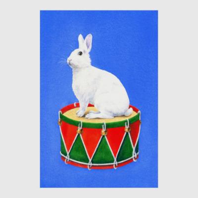 Постер Заяц на барабане