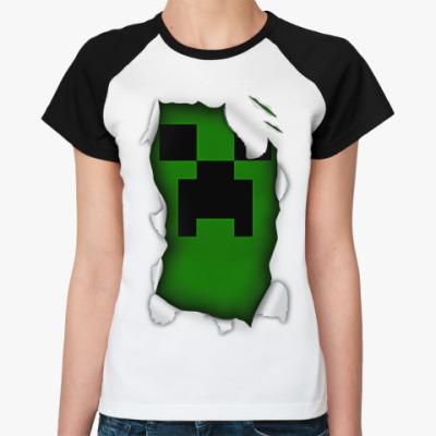 Женская футболка реглан Крипер