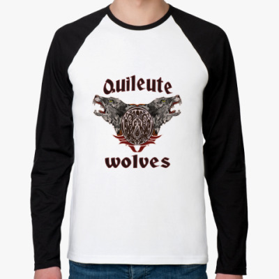 Футболка реглан с длинным рукавом  Quileute wolves