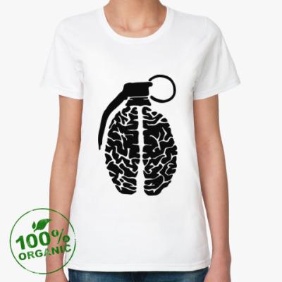 Женская футболка из органик-хлопка мозговая граната