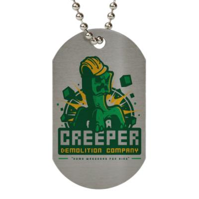 Жетон dog-tag Creeper Demolition Company