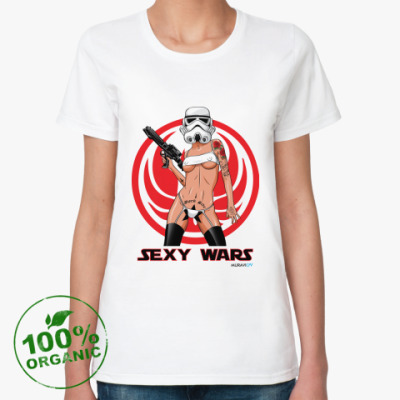Женская футболка из органик-хлопка SEXY WARS