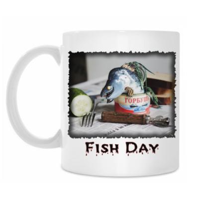 Кружка Рыбный день. Горбуша