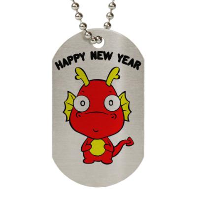 Жетон dog-tag Новогодний дракончик