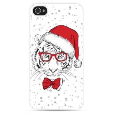 Чехол для iPhone Тигр Санта