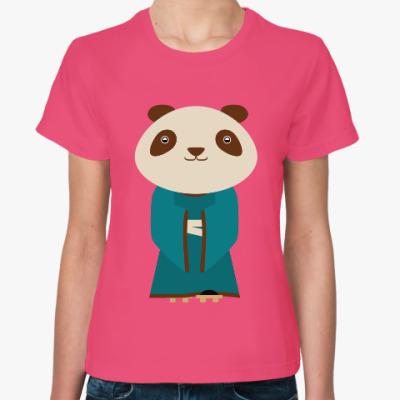 Женская футболка Панда в кимоно