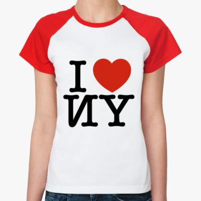 Женская футболка реглан   'I love ИY'