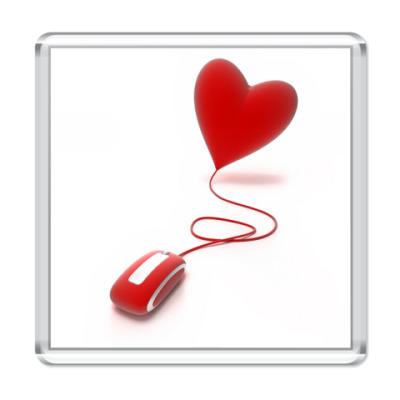 Магнит Мышка и сердце