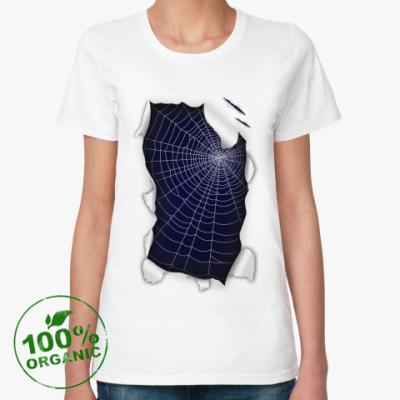 Женская футболка из органик-хлопка Паутина