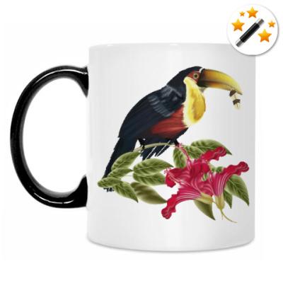 Кружка-хамелеон Тропическая птица