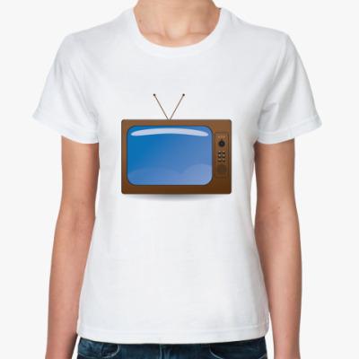 Классическая футболка телевизор