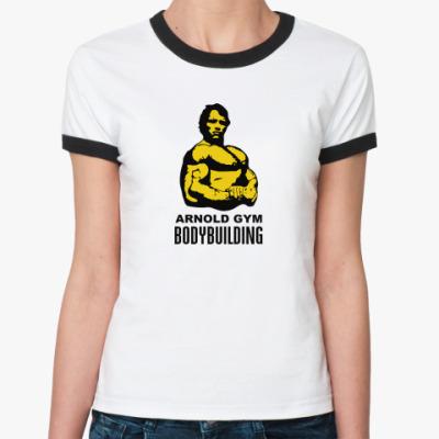 Женская футболка Ringer-T Arnold - Bodybuilding