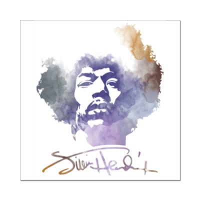Наклейка (стикер)  Jimi Hendrix - Джими Хендрикс