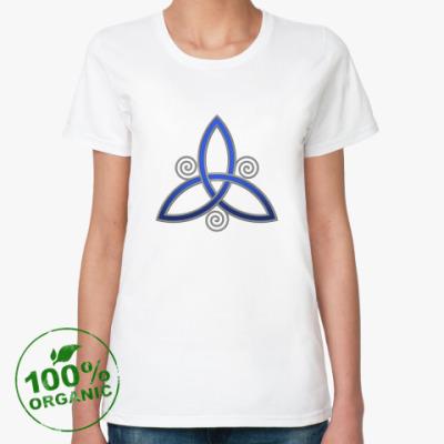 Женская футболка из органик-хлопка Вязь