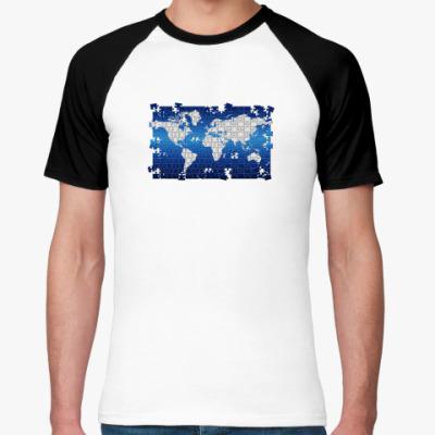 Футболка реглан  'World Puzzle'