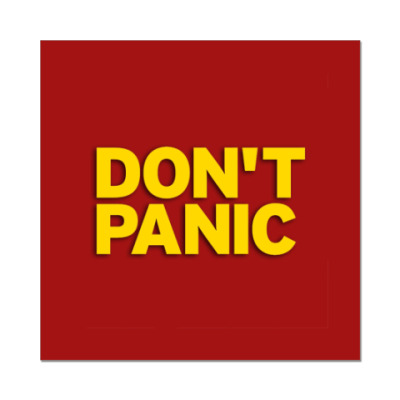 Наклейка (стикер)  'Без паники'