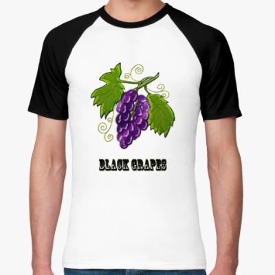 Футболка реглан   Black Grapes