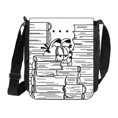 Сумка на плечо (мини-планшет) Гарфилд в книгах