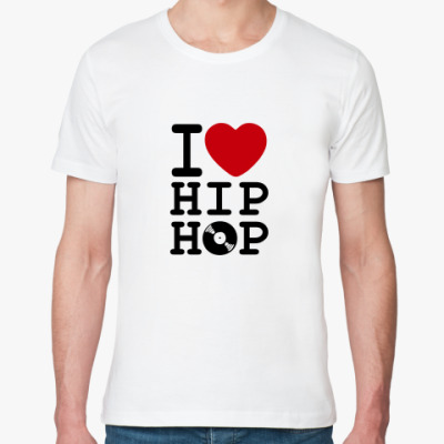 Футболка из органик-хлопка I Love Hip Hop