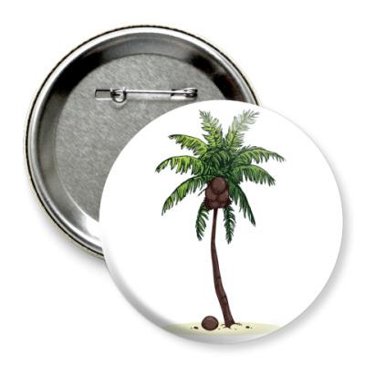 Значок 75мм Кокосовая пальма