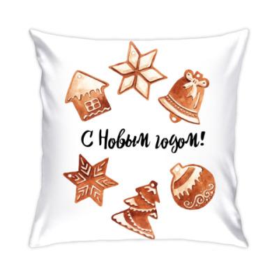 Подушка Пряники принт С Новым годом!