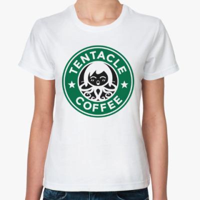 Классическая футболка щупальце кофе