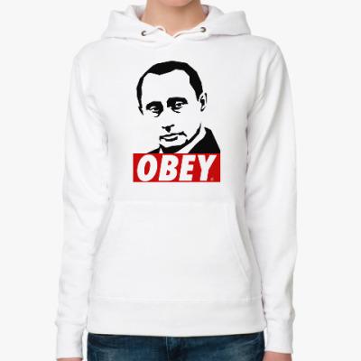 Женская толстовка худи Путин (Стиль Obey)