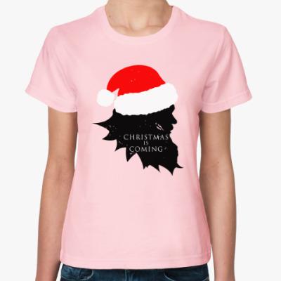 Женская футболка Christmas is coming