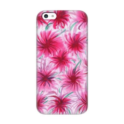 Чехол для iPhone 5c Цветочный принт 'Астры'