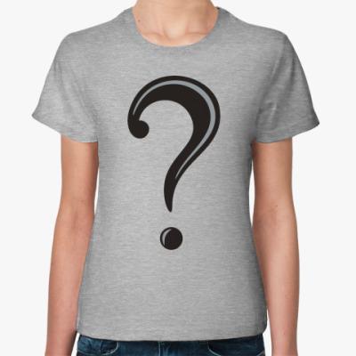 Женская футболка Загадка