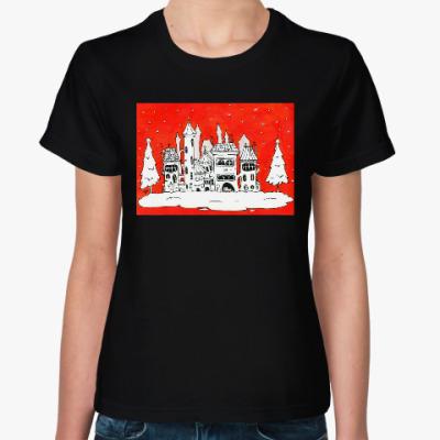 Женская футболка Рождественское настроение
