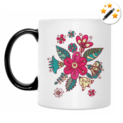 Кружка-хамелеон Цветы