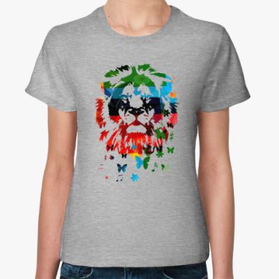 Женская футболка Лев и... бабочки