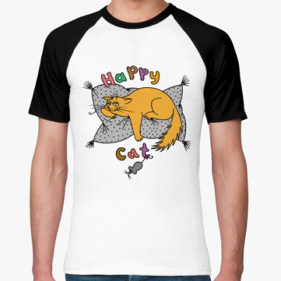 Футболка реглан Happy cat