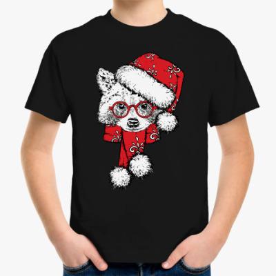 Детская футболка Енот Санта