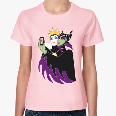 Женская футболка Селфи Малефисента