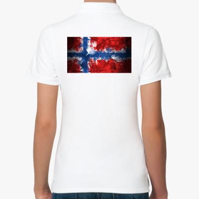Женская рубашка поло  'Норвежский флаг'