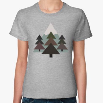 Женская футболка Геометрия природы