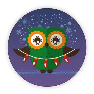 Костер (подставка под кружку) Зимняя сова